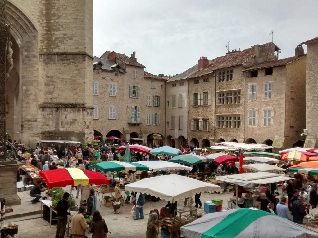 Villefranch de Rouergue on Market Day